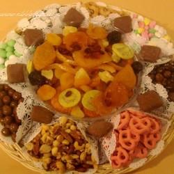 Honey Dried Fruit & nut Tray with Honey & Apple 6852