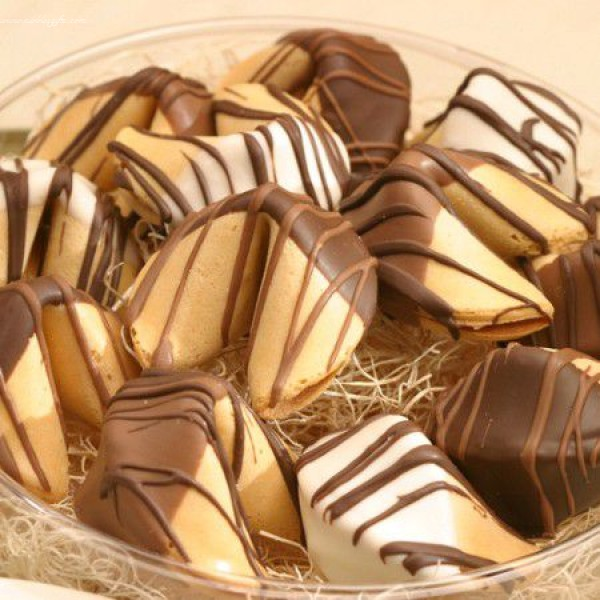 Hand Dipped Chocolate Fortune Cookies Gift 5228