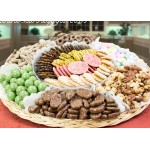 Chocolate, Nut, Dipped Pretzels and Candy Tray 6620