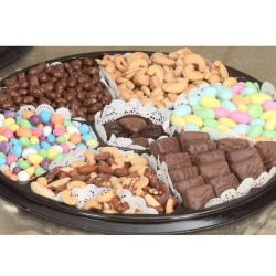 Nut Chocolate Black Tie Gift Tray. (Lg.) 6721