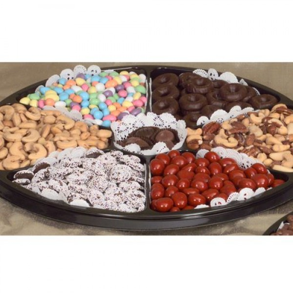 Nut Chocolate Black Tie Gift Tray. (Lg.) 6719