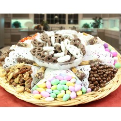 Chocolate, Nut, Dipped Pretzels and Candy Tray 6702