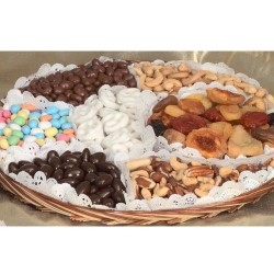 Nibbles Chocolate, Nut, Dry Fruit, and Dipped Pretzel Tray 6718
