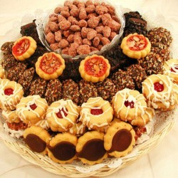 European Cookie and Nut Gift Tray 6615