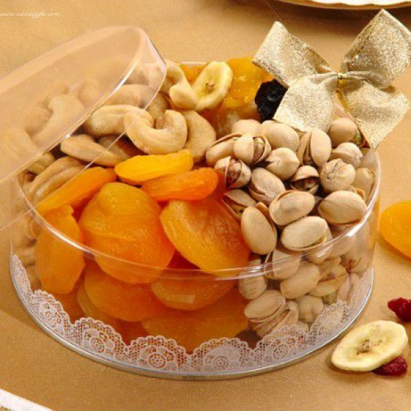 Dried Fruit and Nut Clear Tin 5386