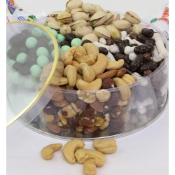 Holiday Roasted Nuts, Chocolates, Chocolates & Candies Lucite Tin 7419