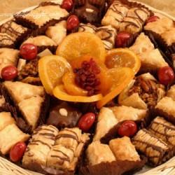 Glazed Fruit & Baklava Pastry Gift Tray 5332
