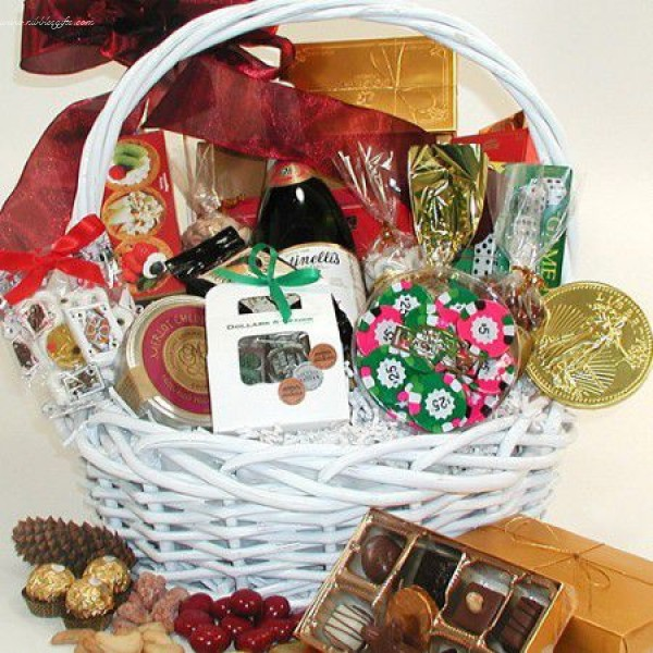 Casino Fun Gift Basket 6213